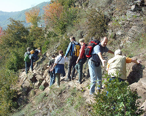 Klettersteig Calmont : Calmont region
